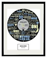 MICHAEL JACKSON - MEMORABILIA - Framed Art Poster - Ltd Edition - An Ideal Gift