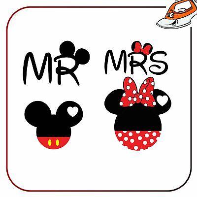 Schlussverkauf Mr Mrs Couple Mickey Minnie Iron On T Shirt Transfer Vinyl Printed Sticker Um Eine Hohe Bewunderung Zu Gewinnen Und Wird Im In- Und Ausland Weithin Vertraut.