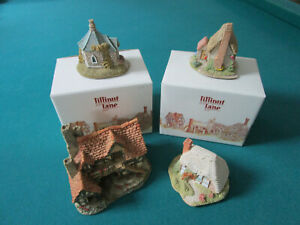 LILLIPUT-LANE-DAVID-WINTER-FIGURINES-FARTHING-LODGE-STRAWBAERRY-COTTAGE-SPINNE