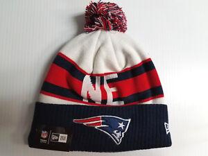 a39275c9e New England Patriots New Era Knit Hat Retro Cuff Pom Beanie Stocking ...