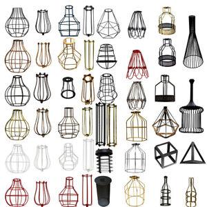 Modern-Retro-tonos-de-luz-colgante-de-techo-marco-de-alambre-Facil-Ajuste-Pantalla-De-Iluminacion
