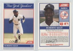 Details About 1990 Score Natwest Banks New York Yankees 6 Roberto Kelly Baseball Card
