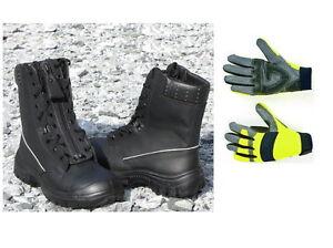 5dcd52c5e62973 Das Bild wird geladen Rettungsdienst-Schnuerstiefel-S3-TH-Handschuhe- Rettungsdienst-Stiefel-Feuerwehr