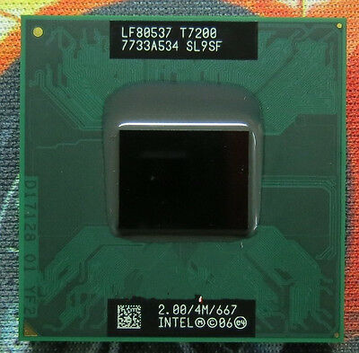 SELLER with Clam shell. INTEL CORE 2 DUO 2.00GHz  4M 667MHz T7200 SL9SF  U.S.A