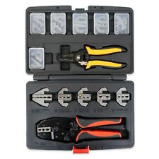 Interchangeable Ratcheting Terminal Crimper Set 12 Die Sets With Wire Stripper