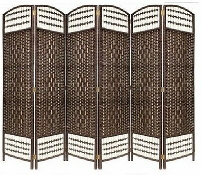 Awe Inspiring Libertine Mocca Classic 6 Panel Room Divider Screen Wicker Partition Ebay Download Free Architecture Designs Embacsunscenecom