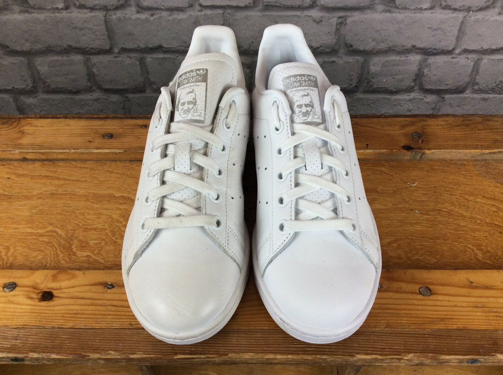 ADIDAS LADIES UK 5 EU 38 TRAINERS WHITE SILVER STAN SMITH TRAINERS 38 PERFORATED bef287