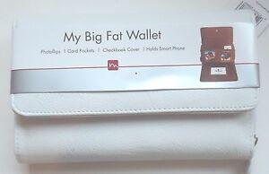 Mundi Big Fat Checkbook Wallet,White