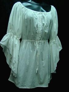 Peasant Renaissace Blouse Chemise all cotton sizes S- XXL