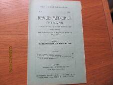 Revue Médicale de Louvain N°20 1932 Diabète et insuline