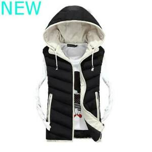 Warm-Jacket-Coat-Vest-Sleeveless-Thicken-Outwear-Men-039-s-Overcoat-Hooded-Autumn