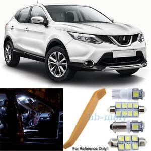 Para-Nissan-Qashqai-J10-2007-2013-Led-Interior-Kit-Premium-9-SMD-Bombillas-Hid-Blanco