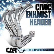 For Honda Civic del Sol CRX SOHC D15 D16 Stainless Steel Exhaust Header