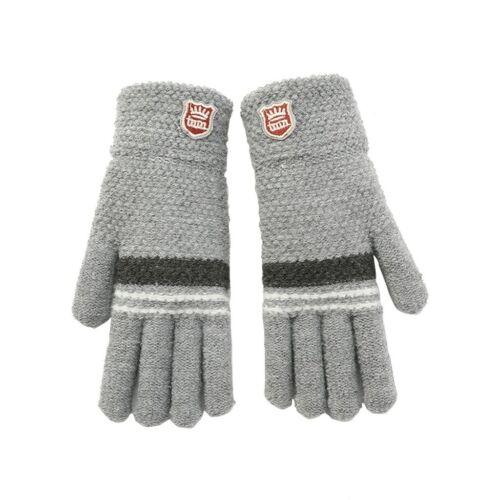 Unisex Warm Soft Gloves Kid Winter Full Finger Knitted for Little Boys and Girls