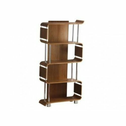 Curved Walnut Designer Bookcase Shelving Unit by Jual Furnishings BS201