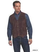 Men's Cripple Creek Boar Suede Snap Front Vest - 4 Colors Available