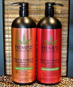 Hempz-Blushing-Grapefruit-Raspberry-Shampoo-amp-Conditioner-33-8-oz-Liter-Set-Duo