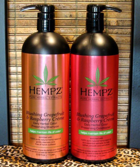 Hempz Blushing Grapefruit Raspberry Shampoo & Conditioner 33.8 oz Liter Set Duo