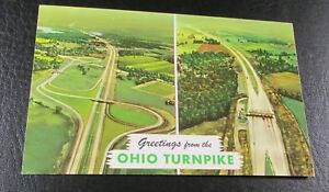 Details about Old Postcard{ AERIAL VIEW OF OHIO TURNPIKE---MID 1900'S}