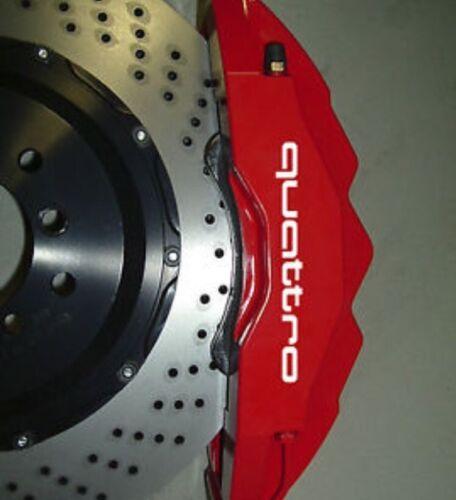 Audi Quattro Brake Caliper HIGH TEMP Vinyl Decal Stickers ANY COLOR SET OF 4