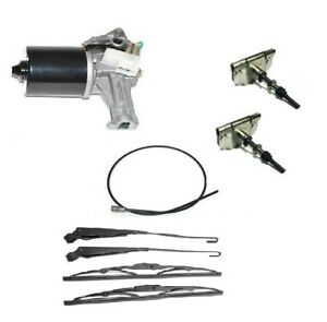LAND ROVER DEFENDER NEW FRONT WINDSCREEN WIPER KIT MOTOR SPINDLES CABLE -2001