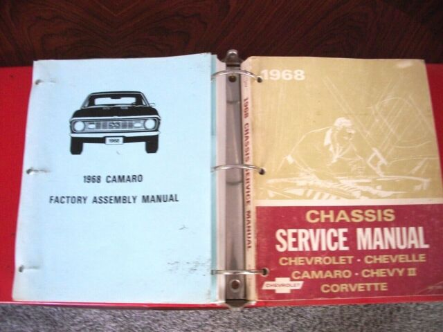1968 Camaro  Chevy Ii  Chevelle  Corvette  Service Manual