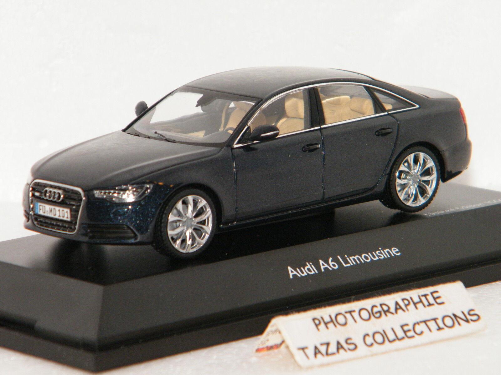 Audi a6 limousine mondscheinblue (bluee) schuco 1 43 ref 0748200