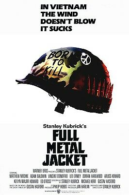 A4 Stanley Kubrick Film Wall Art Print FULL METAL JACKET 1987 MOVIE POSTER A3