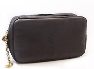 Yves Saint Laurent Cosmetic Bag Pouch Makeup Bag Designer Case New ...