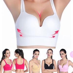 Femme-Soutien-gorge-Brassiere-Sport-Yoga-Sans-Armature-Lingerie-Push-Up-Gilet