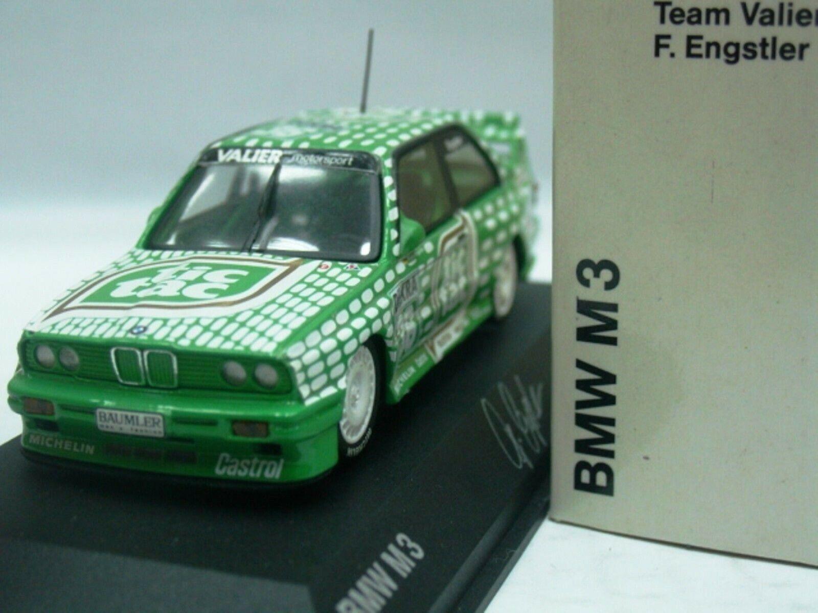 Wow extrêmement rare BMW M3 E30 se DTM 1992  36 ENGSTLER Last Race 1 43 Minichamps