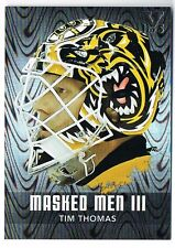 2010-11 BETWEEN THE PIPES MASK MASKED MEN III SILVER TIM THOMAS VAULT 1 OF 5 !!