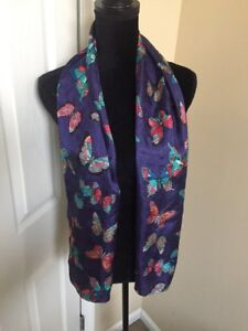 NWT-Echo-Silk-Polka-Dot-and-Butterfly-Scarf