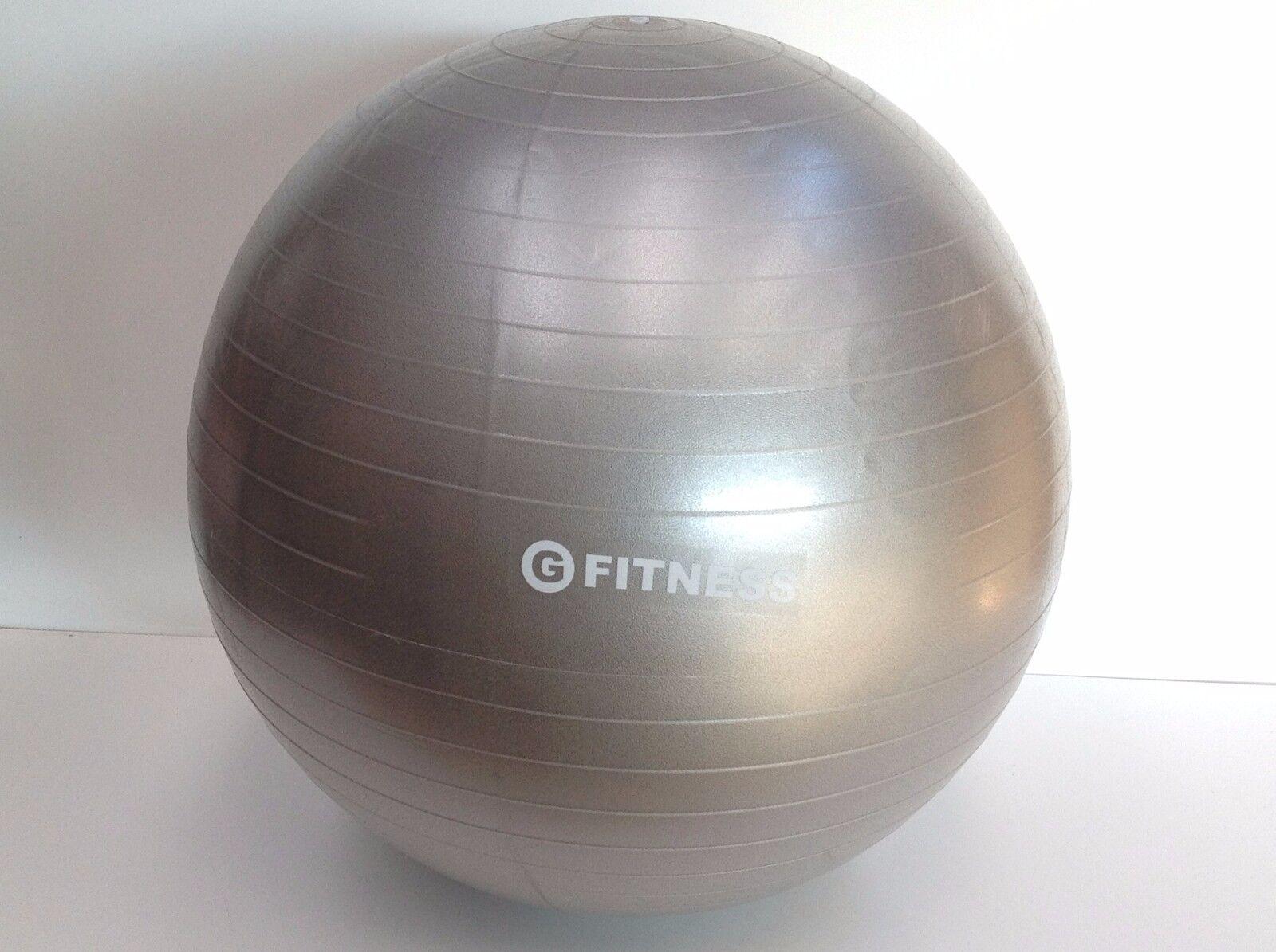 lot de 2 x balle ballon gymnastique balle x 65cm gris exercice