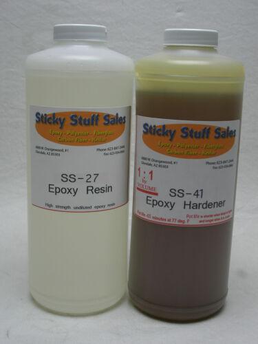 2QT Genuine SS-27 Epoxy resin*Ultra strength* Includes 65min SS-41 hardener