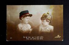 WW1 Postcard Children German Pickelhaube Park Hill Awsworth Nottingham NG16