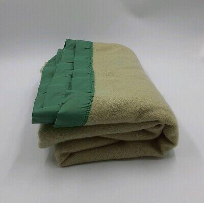 Vintage Fieldcrest Royal Velvet Satin Edge Full Wool Blanket 76