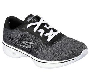 Walk Damen Fitness Exceed Zu Sneaker Go 4 Trainer Schwarzgrau Details Neu Skechers Walking Tl3KF1Jc