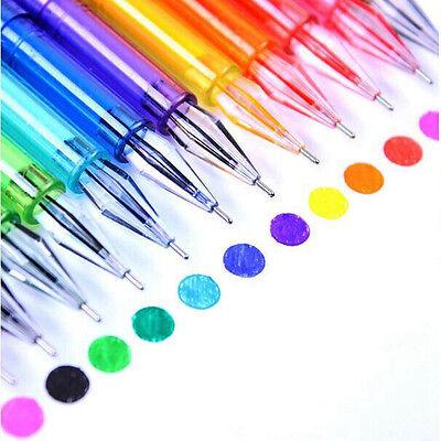 Set/12Pcs Candy Color Diamond Gel Pen Draw Colored Pens Student School Supplies