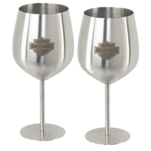 HDL-18788 Harley-Davidson® Stainless Steel Wine Glass Set