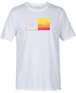 Hurley-White-Mens-Size-Medium-M-Logo-Crewneck-Graphic-Tee-T-Shirt-25-175