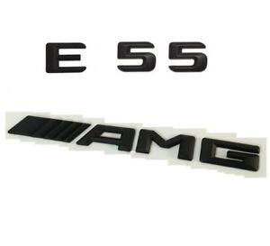 MATTE BLACK BENZ E55 REAR TRUNK LETTERS BADGE EMBLEM FOR MERCEDES BENZ E-CLASS