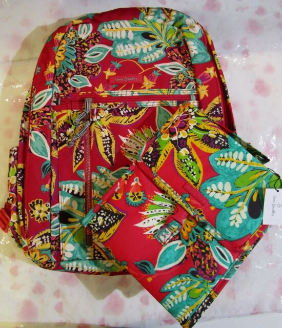 c2c789b41735 VERA BRADLEY Lighten Up Grand Backpack Laptop Lunch Sack Bag Set RUMBA