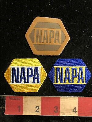 2 Patches NOS 1990s NAPA Auto Parts Store Advertising Patch Blue 00RM
