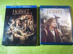 Lot 0f 2 The Hobbit The Desolation of Smaug and Unexpected Journey Blu-ray DVD