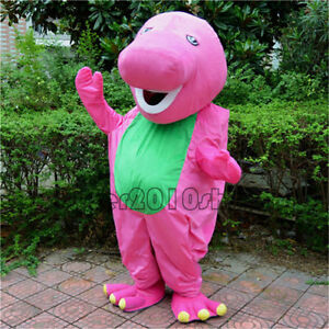 Halloween-Barney-Dinosaur-Mascot-Costume-Suits-Party-Game-Dress-Adults-Cosplay