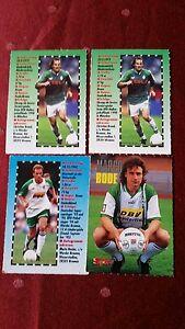 Fussball Sammelkarten von Spielern von Werder Bremen - Berlin, Deutschland - Fussball Sammelkarten von Spielern von Werder Bremen - Berlin, Deutschland