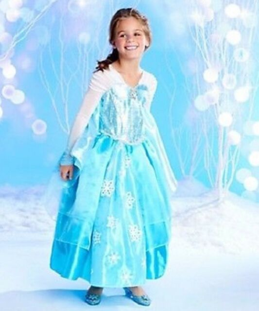 A++ Quality! ~ SIZE 7/8~RETIRED DELUXE DISNEY STORE FROZEN ELSA GOWN ...