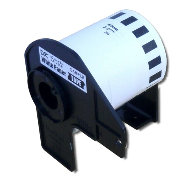 ENDLOS DRUCKER ETIKETTEN 62mm x 30.48m WASSERFEST für BROTHER P-touch QL-650TD