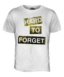 Details about HARD TO FORGET MENS FASHION SLOGAN T-SHIRT TOP SWAG HIPSTER  SHORT SLEEVE TRENDY